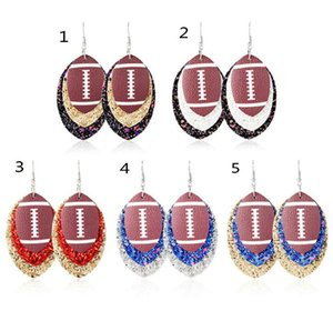 New style creative earrings for Women's PU leather earrings Multilayered sequined leaves Earrings 10pcs lot Free shipping