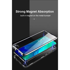 360 Caso in metallo adsorbimento magnetico per OPPO RealMe 7 6 5i Reno 4 3 Pro Lite A9 A5 A31 A11X 202 SQCIUX