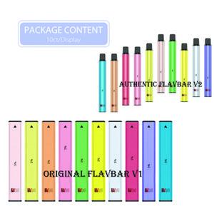 Authentic Flavbar V1 V2 Kit dispositivo di pod monouso 300 1000 sbuffi 650mAh 2.8ml Pods premilled VAPA PEN PLUS XXL 100% originale 10 colori