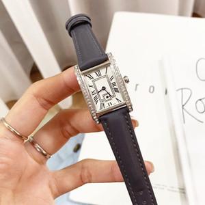 2020 Hot Sale Woman watches New Fashion Lady Dress Watch Casual Rectangule Leather Relogio Feminino Lady Quartz Wristwatch Drop shipping