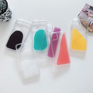 Gelay Juice Colour Liquid QuickSand Transparent Hard PC PC TPU Caso di copertura posteriore antiurto per iPhone 12 Mini 11 Pro Max XS XR x 8 7 6 6S Plus