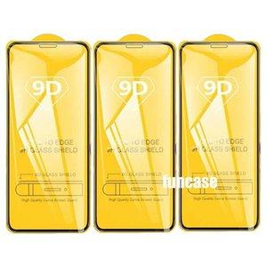 9D Full Glue Tempered Glass Curved Screen Protector For Samsung Galaxy A21S A01 CORE A11 A21 A31 A41 A51 A61 A71 A81 A91 M01 M11 M21 M31 M51