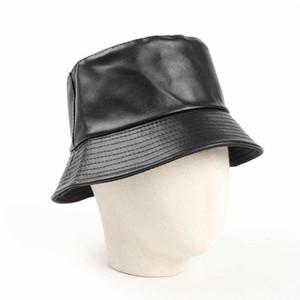 Leather Bucket Hats Baseball Caps Beanie Baseball Cap for Mens Women Casquette Man Woman Beauty Hat Hot Top fisherman Leather bucket hat