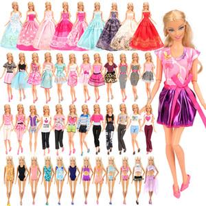 Fashion Handmade 16 Artikel / set = 5 Puppenkleid Zufall 3 Badeanzug + 3 lange Kleider + 5 Puppen Zubehör-Kleidung für Barbie DIY Spiel 1011