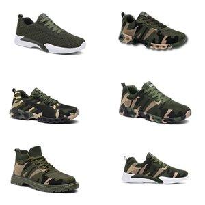 2020 No-Brand Hotsale Дизайнерская обувь Мужчины Женщины кроссовки камуфляж Army Green Открытый тренер СИЭЗ 36-44 Style 3013