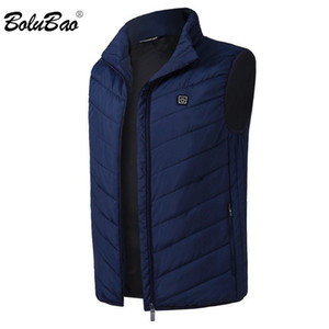 BOLUBAO Fashion Brand Men Heating Vest Coats Winter New Men Casual Cotton Vest Jacket Tops Smart USB Charging Vest Coat Male 201014