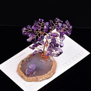 1PC cristal natural de Handmake grava Espécimen Árbol de la Vida cristales piedra de la energía la decoración del hogar meditación Healing Fengshui