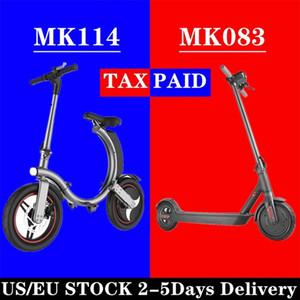 브랜드 Mankeel Fast Free Ship EU / US Stock 전기 자전거 통근 미니 전기 자전거 25km / h 350w 미니 접이식 블랙 스쿠터 MK114