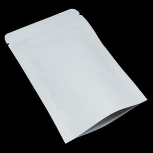 100pcs 914cm Stand Up White Brown Kraft Paper Aluminum Foil Zip Lock Packaging Bag Mylar Heat Seal Food Gifts Packing Pouch H bbyrdh