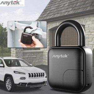 Anytek L3 Smart Keyless Fingerprint Padlock USB Rechargeable Anti-Theft Security Lock IP65 Waterproof Door Luggage Case Lock car dCRi#