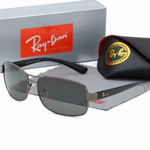 2020 Лучшие качества Ray Марка солнцезащитные очки Мужчины / Женщины Пилотные Солнцезащитные очки UV400 очки Авиатор Ban Driver Баны металлический каркас Polaroid объектива с футляром
