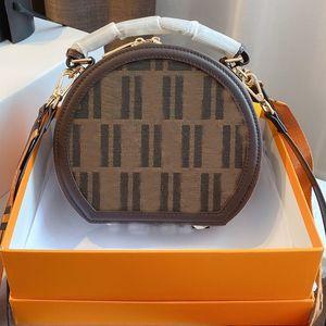 Круглый Crossbody сумка Многоцелевой Одно плечо сумка супер большой емкости для путешествий Кошелек Леди Браун Кошелек с FF