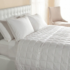 Wholesale- Down quilt Blanket duvet with Satin Trim 100% cotton twin size filled 550 fp white duck down 100 gsm free shipping iIqt#