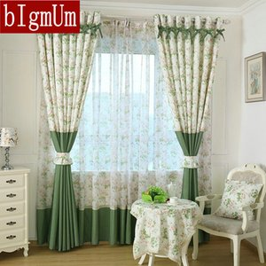 Rustic Pastoral Window Curtain For Kitchen Blackout Curtains Window Drape  Panels Treatment Home Decor Floral Modern Curtains LJ201224