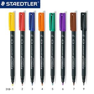 3шт staedtler 318 f Цветные художественные маркеры ручка нефтяные чернила маркер канцтовары офисные школьные принадлежности Быстрые сушильные водонепроницаемые маркеры Pen 201125