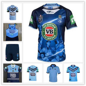 2020 NSW Blues Herkunftszustand Alternativer Jersey Home Jersey 2020 True Blue Captains Rugby Jerseys NSW Australia State of Origin Jersey