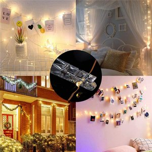Led String Lights 2m 5m 10m Photo Clip Fairy Lights Outdoor Battery Operated Garland Christmas Decoration Party Wedding Xmas jllTql sinabag