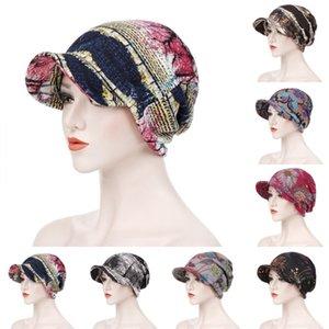 Big Breim Hat Dual Caps Caps Ткань Мужчины Женщины Мусульманские Головные Уидравые Обратные Деревья Листья Multi Color Toper 10 5ER L2