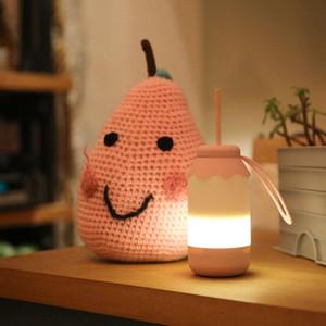 Night Light Bottiglia NEW del bambino della lampada del silicone portatile