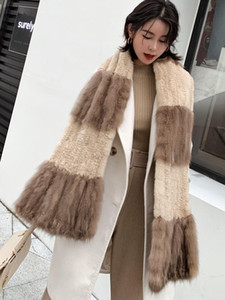 Sable Collar mink series scarf female fur collar winter new style warm and fashionable fur scarf Size:180*20cm