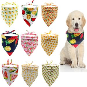 Dog Fruit watermelon pineapp Single Layer Pet Scarf Triangle Bibs Kerchief Pet Accessories Bibs for Small Medium Large Dogs Xmas Gifts