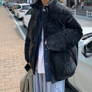 Winter Thickened Bright Color Jacket Men's Parka Warm Fashion Casual Leather Coat Men Korean Short Leather Coat Mens Clothes