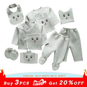 Lawadka 8шт / комплект для новорожденных Baby Boy Одежда Костюмы Осень Зимняя одежда для новорожденных 0-3Month New Born Baby Girl Clothes Set Outfit 201113