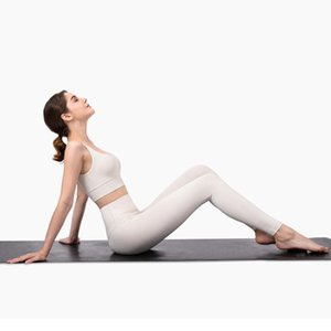 Profissional Yoga Set nua-se sente-se escovado Fitness Fitness Esportes Outfit Yoga Leggings Set Terno Mulheres Marfim Branco Yoga Roupas 201103