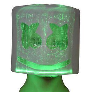 Marshmallow di Sonic Flash Glowing Mask promessa luminoso Borsa Latex Mask Festival Maskpp elettronica principale variopinta Maschera Neon Marshmallow Così Mrft