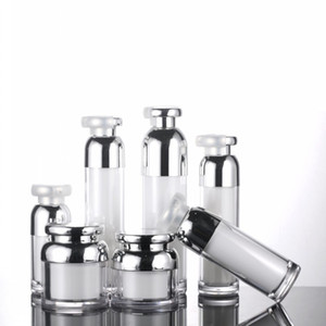 15 30 50 100ml Airless Pump Bottle Vaccum Cosmetic Cream Pump Bottle Travel Size Dispenser Refillable Cosmetic Air Pump Jars Containers