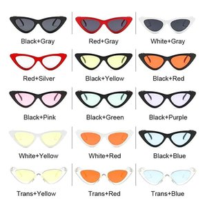Sunglasses Fashion Vintage Cateye Women Sexy Retro Small Cat Eye Sun Glasses Designer Colorful Eyewear For Female