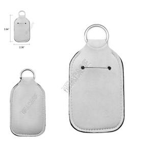 Leerer Sublimation Key Halter 30 ml Hand Sanitizer Flasche Fall DIY Ebene Weiß Farbe Neopren Parfüm Flaschen Tasche Schlüsselanhänger Anhänger TOYSD92502