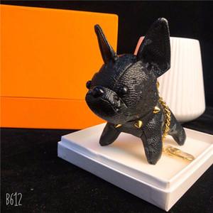 Moda Marka Köpek Anahtarlık Klasik Chic Anahtarlık Kadın Erkek Lüks Araba Kolye Unisex Tasarımcı Anahtarlık Biblo Takı, 81388ly