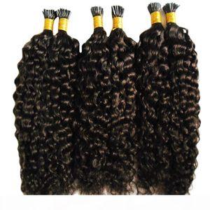 Монгольский афро щипцы вьющиеся волосы Кератиновые палочки наконечника наращивания волос 300 г предварительно связанные я наконечник волос наращивание волос капсулы человеческий синтез