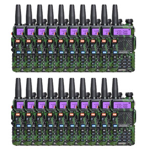 Wholesale 20 PCS Baofeng UV-5r Two way Radio uv5r UHF VHF Powerful walky talky FM Ham Radio Fast Delivery By DHL