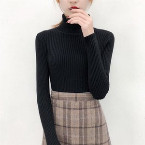 2021 New Autumn and winter heads cardigans for woman, tall turtleneck with long sleeves on the bottom, thin sweater, knitted or 6Z6Y