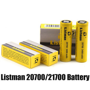 100% Original Listman IMR 20700 3400mAh 21700 3800mAh 40A 3.7V High Drain Rechargeable Battery for 510 thread Vape Box Mod Authentic