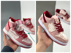 Giorno Alta Top SB Pink Love limonata Bassa Skateboard Shoes Mens delle donne di San Valentino Pro Pink Lemonade Sneakers