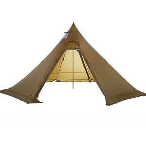 ASTA Gear Track 5 Pyramid BushCraf Léger 4-5 personnes Randonnée en plein air Camping avec jupe enneigée Tente à coupe-vent pluviale