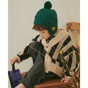 Kids Sweaters New Winter Korean Brand Boys Coat Girls Knit Print Pullover Baby Toddler Children Cotton Fashion Toddler Clothes LJ201203