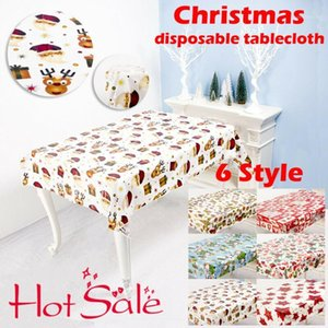 2020 HOT Disposable Xmas Antifouling Elegant Waterproof Selling Holiday Christmas Table Cloth1 Tablecloth Decor Adcbk