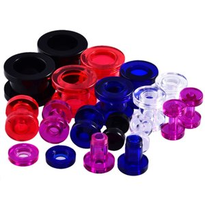 Orecchio 5-12mm acrilico Spine e gallerie di orecchio calibri Piercing Expander Ear Piercing Tunnel Barelle Spine Tunnel Mandala