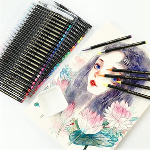 24/48 colores suaves pintura Conjunto Comic Manga acuarela marcadores pluma de la caligrafía del cepillo del artista Suministros Q1107