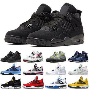 Cheap Snakeskin\wholesale\rretro neon 4 4s men women sport shoes black cat athletics mens womens trainers sports sneakers