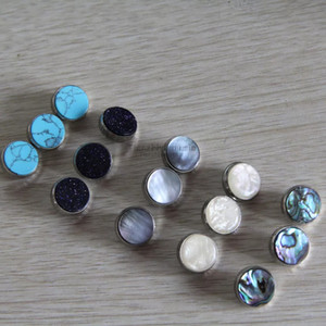 5set=15 Pcs Trumpet Finger Button Pearl Set Real Abalone Shell Flashing pearl