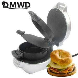 Хлебные производители DMWD Electric Sandwich Gamburger Maker Patty яйцо жаровая машина для выпечки креп сковорода стейк для завтрака