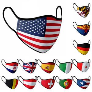 Американский национальный флаг Маска 15 видов национального флага Маски пылезащитных Масок Ситца лиц могут быть повторно использованы W-00353