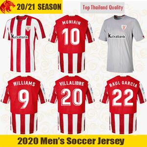 20 21 Athletic Bilbao Camisas de futebol RAUL GARCIA 2020 2021 WILLIAMS UNAI LOPEZ Camisa de futebol VILLALIBRE Athletic Club MUNIAIN Jersey