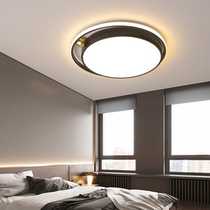 Modern Led Ceiling Lamp Round For Living Room Bedroom Kitchen Nordic Creative Personality Black Chandeliers Lighting Fixture