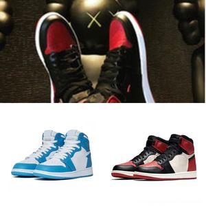 Concord Basketball Platinum Designer Tint boné e um vestido Homens Crianças alta 1S Kanye menina jumpman West Chicago Red 23 Oeste sapatos de ginástica Kanye Bred Spa